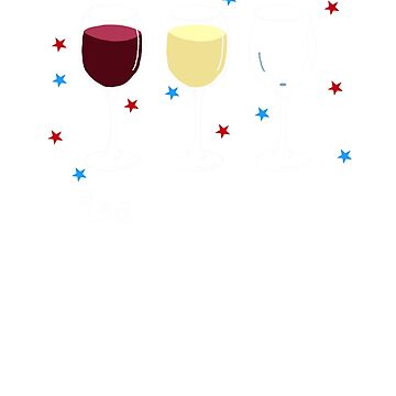 Red White & Blue Patriotic Wine Glasses by dwarmuth