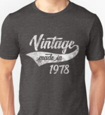 Vintage Made in 1978 40th Birthday Gift Slim Fit T-Shirt