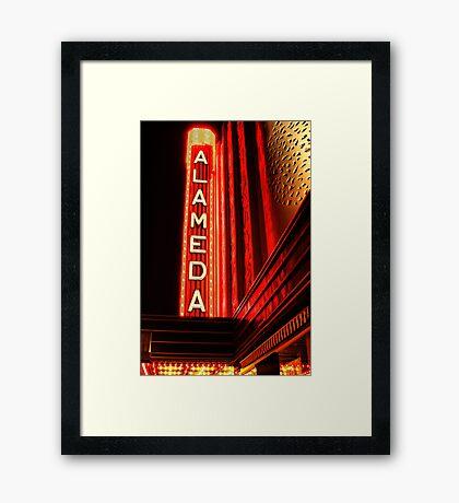 Alameda Theatre Framed Print