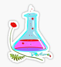 Perfume in a Bottle and a Poppy Sticker