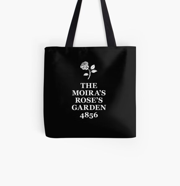 The Moira's Rose's Garden - white type All Over Print Tote Bag