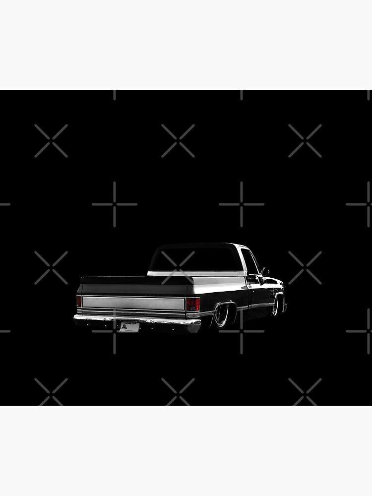 Chevy Silverado Square body pickup 2 - black by mal-photography