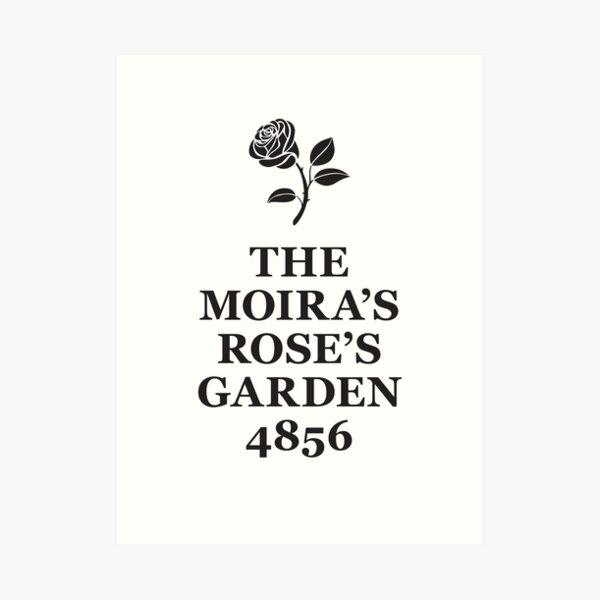 The Moira's Rose's Garden - black type Art Print
