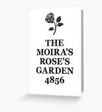 The Moira's Rose's Garden - black type Greeting Card