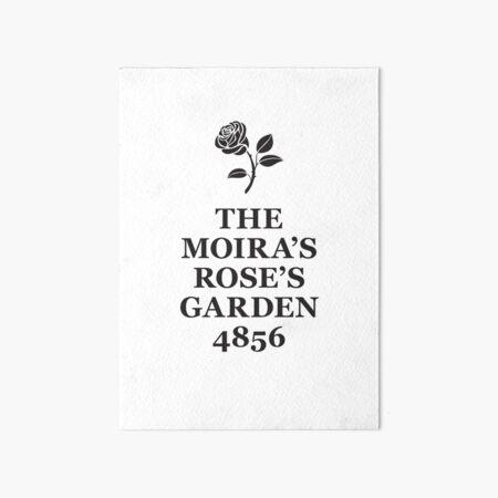 The Moira's Rose's Garden - black type Art Board Print