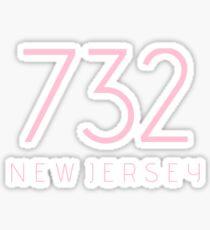 NEW JERSEY 732 • ROSE Sticker