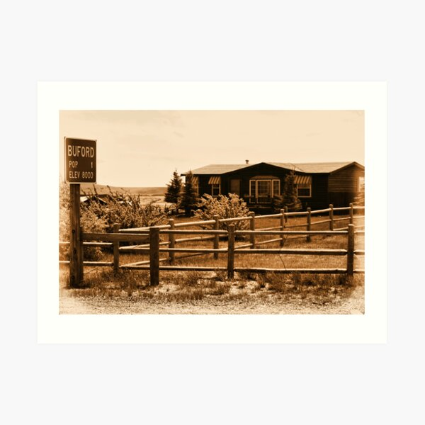 A Small Wyoming Town Art Print