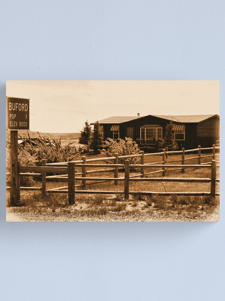 Alternate view of A Small Wyoming Town Canvas Print