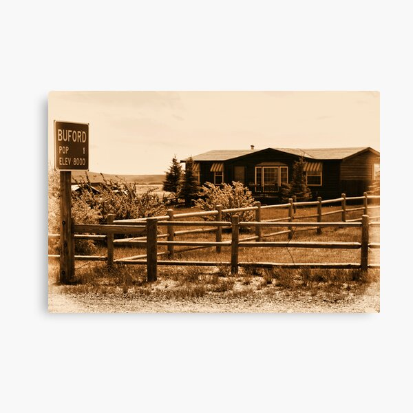 A Small Wyoming Town Canvas Print