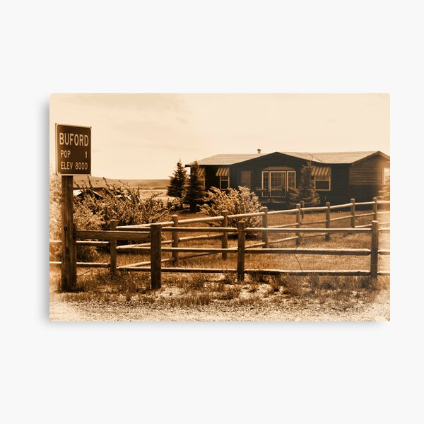 A Small Wyoming Town Metal Print