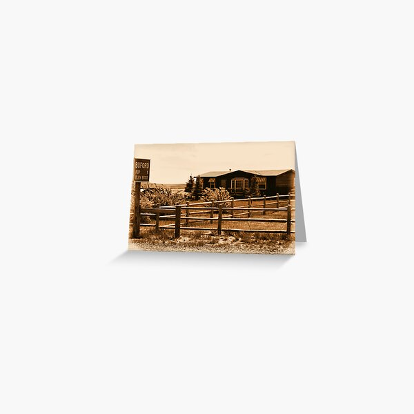 A Small Wyoming Town Greeting Card