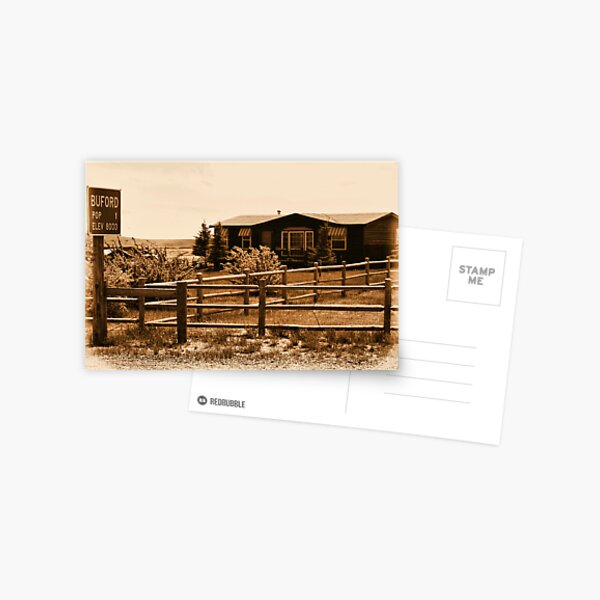 A Small Wyoming Town Postcard