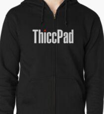 ThiccPad - Black Version Zipped Hoodie