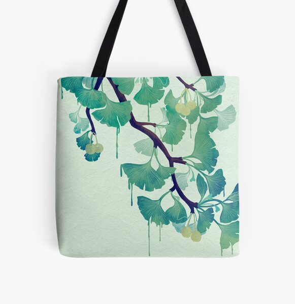 O Ginkgo (in Green) All Over Print Tote Bag
