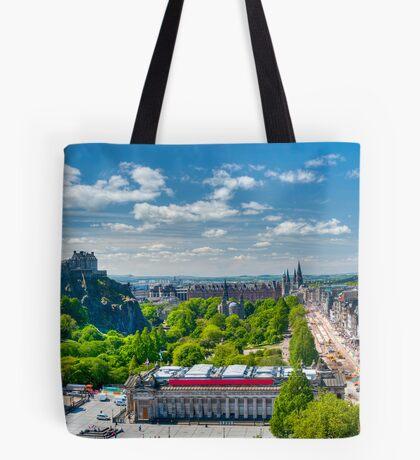 Edinburgh Castle View: Capital City of Scotland Tote Bag