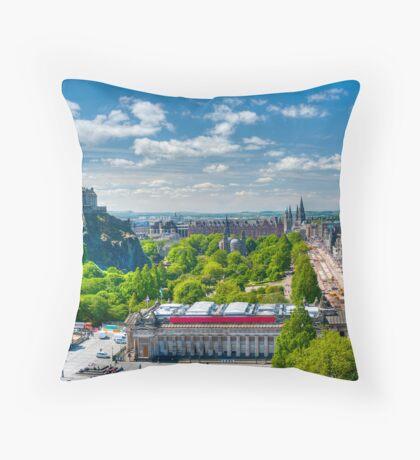 Edinburgh Castle View: Capital City of Scotland Throw Pillow