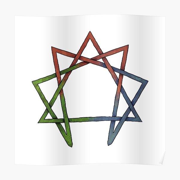 Enneagram - Celtic Knot Poster
