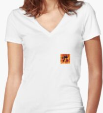 Hot Dragon  Women's Fitted V-Neck T-Shirt