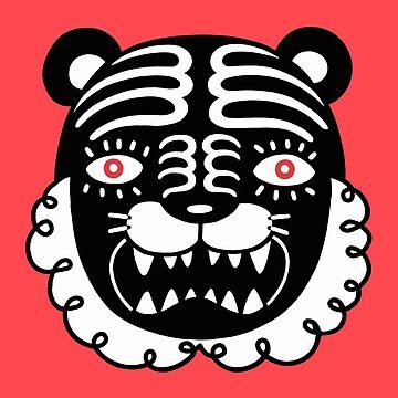 Kuro The Black Tiger pattern by RYURAKUDO