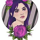 Purple Roses by Valeia