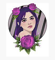 Purple Roses Photographic Print