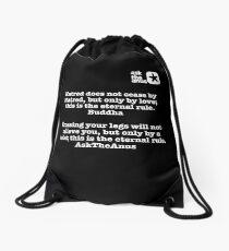 Buddha vs AskTheAnus Drawstring Bag
