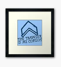 The Traveler Is My Copilot Framed Print