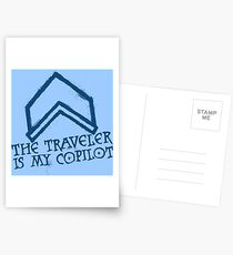 The Traveler Is My Copilot Postcards