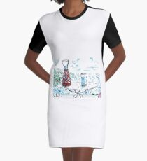When the Good Weather Has Come Graphic T-Shirt Dress