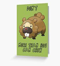 Bidoof Greeting Card