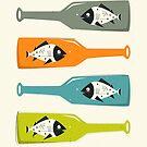 FISH IN BOTTLES by JazzberryBlue