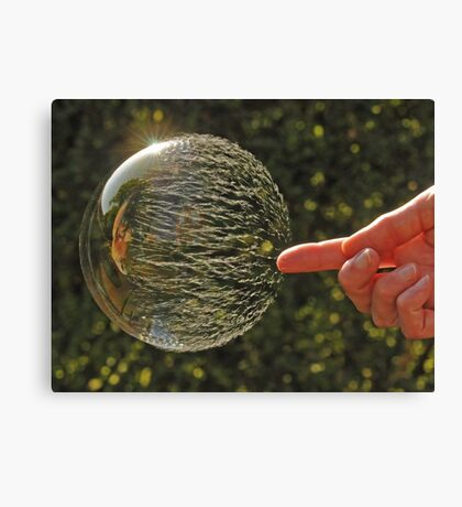 Bubbles don't pop, they RIP! Canvas Print