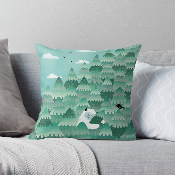 Tree Hugger (Spring & Summer version) Throw Pillow