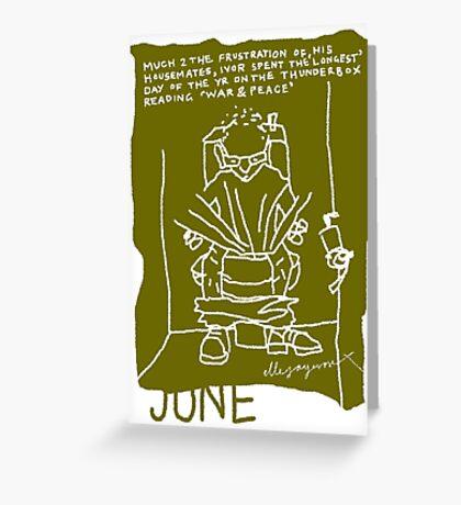 June Greeting Card