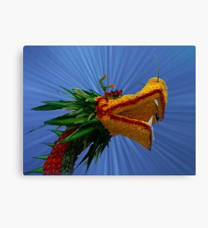 Floral Dragon, Le Thai Park, Hanoi, North Vietnam Canvas Print