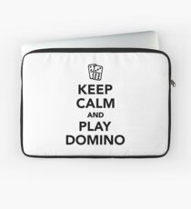 Keep calm and play Domino Laptop Sleeve