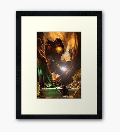 Forest Fire Monster Framed Print