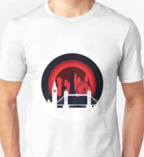 Badge London city skyline vector illustration Unisex T-Shirt