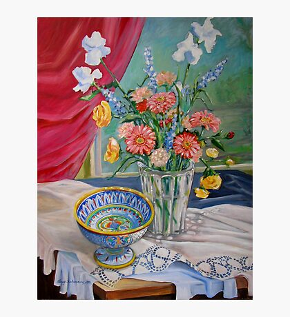 Still Life with Flowers and Bowl Photographic Print
