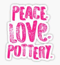 Pottery Design Peace Love Pink Artist Gift Light Sticker