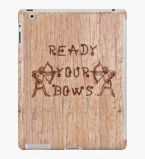 Warbow Archer's quote on wood by patjila iPad Case/Skin
