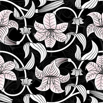 Pattern with lilies by TpuPyku