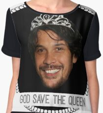 god save queen bob (1) Chiffon Top