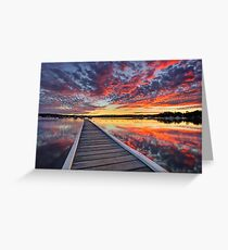 Bolton Point Swimming Pool at Dusk Greeting Card