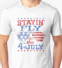 Flug am 4. Juli Slim Fit T-Shirt
