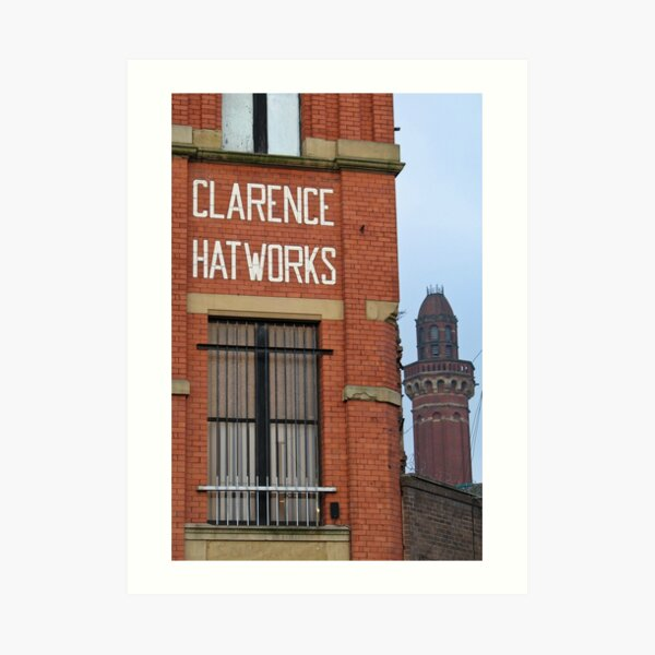 Clarence Hat Works, Salford, with Strangeways in the background Art Print