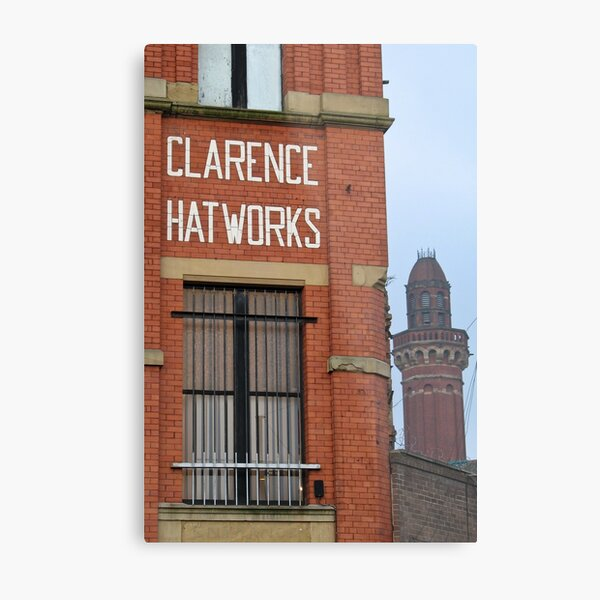 Clarence Hat Works, Salford, with Strangeways in the background Metal Print