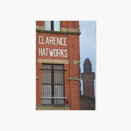 Clarence Hat Works, Salford, with Strangeways in the background Art Board Print