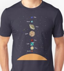 Planets solar system flat design, vector illustration Unisex T-Shirt