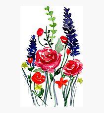 Blumen Fotodruck
